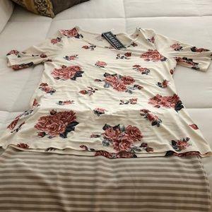 Mikarose floral knit top